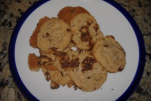 top view of cookies