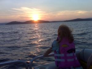 baby at the lake