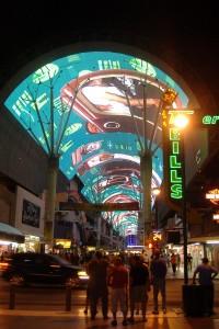 vegas downtown screen