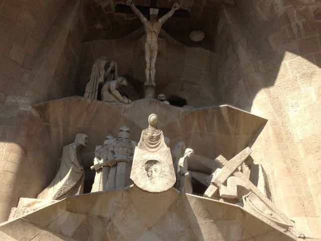 carvings at sagrada familia