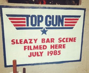top gun sign
