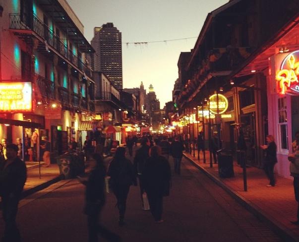 B Street evening